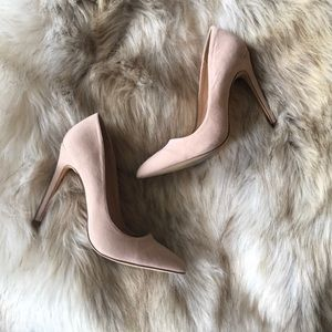 Blush Pink Nude Pointy Toe Heels